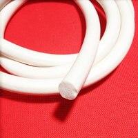 Silicon Rubber Foam Sponge Seal Strip Round Dia 30mm X 1m Creamy White