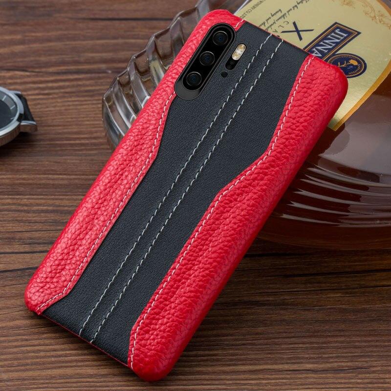 Купить с кэшбэком Genuine Leather Phone case For Huawei p20 p30 p10 lite pro shockproof Cover Leather Cowhide Cases for Huawei honor 20 pro 9x 8x