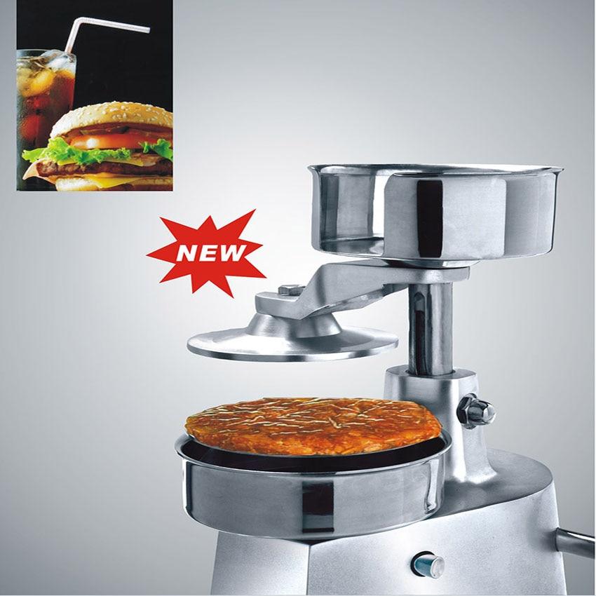 Ev Aletleri'ten Mutfak Robotları'de 1 ADET 130 MM hamburger presi  hamburger patty maker  hamburger kalıp  hamburger presi makinesi  alüminyum burger presi title=