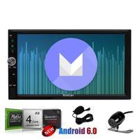 Android 6.0 7 ''стерео GPS автомобиль реверсивная Камера 2din навигации GPS автомобиля Радио приемник Wi Fi 1080 P + внешний микрофон