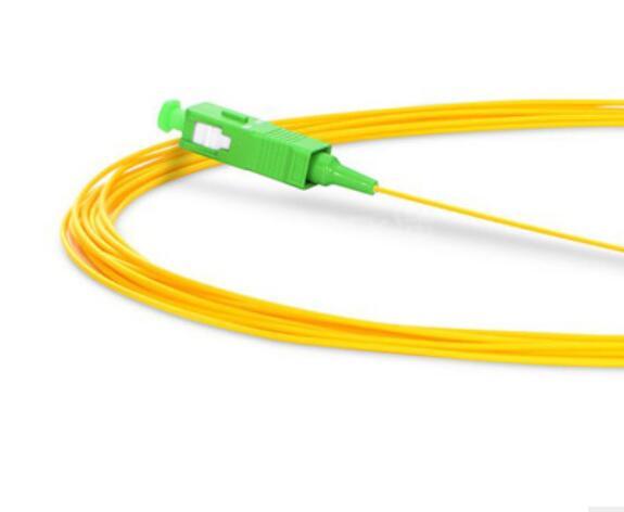 50PCS/lot SC APC SM Singlemode 0.9mm Fiber Optic Pigtails