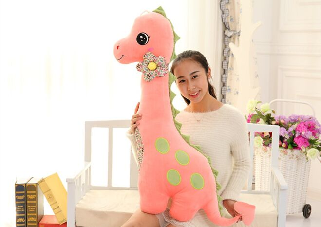 large 140cm pink cartoon dinosaur plush toy soft throw pillow birthday gift h2999 large 40cm pink hamtaro hamster plush toy soft throw pillow christmas gift w1890