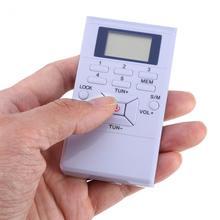 מיני רדיו תדר אפנון LCD FM רדיו דיגיטלי אות עיבוד נייד אלחוטי מקלט עם סטריאו אוזניות רדיו
