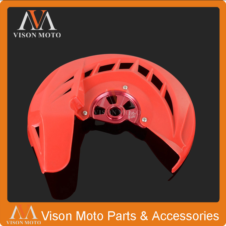X-Brake Front Brake Disc Rotor Guard Cover Protector Protection For Honda CR125R CR250R 250R CRF250X 450R 450X Motorcycle motorcycle front rider seat leather cover for ktm 125 200 390 duke