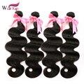 8A Bruto Peruano Virgin Hair Body wave 4 Bundles 8-40 pulgadas Malibu Dollface Recomendar Bundles Cabello Humano ali el pelo de la perla