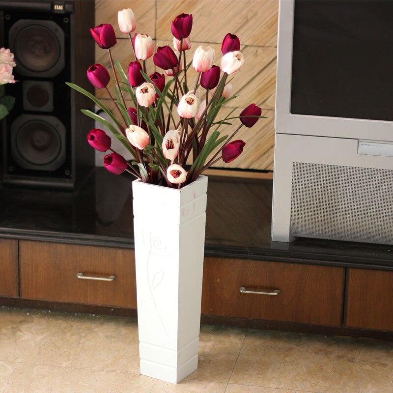 Décoration de la maison accessoires décoration fleur artificielle élégante fleur artificielle ensemble étage vase bowyer