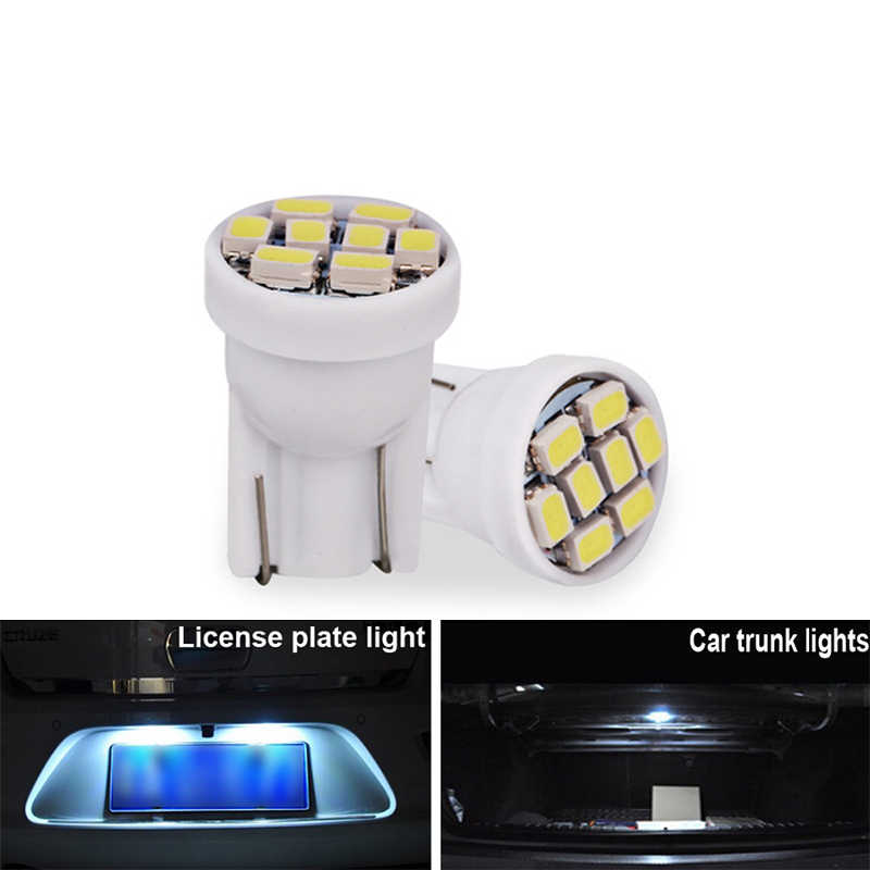 4x Car T10 W5W LED Bulb interior Instrunment Light 12V Auto Dome Reading License Plate Trunk Luggage Lamp 5W5 Super Bright White