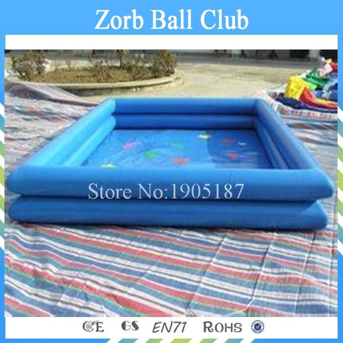 Бесплатная доставка 4x4 м пляжный надувной бассейн Игрушечные лошадки, надувные Бассейны одежда для малышей Плавание бассейн, надувные басс...