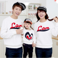 Love Heart Family Clothing Sweatshirt Spring Fall Family Hoodie Set Clothes Mother Daughter Father Son Clothing White HP913
