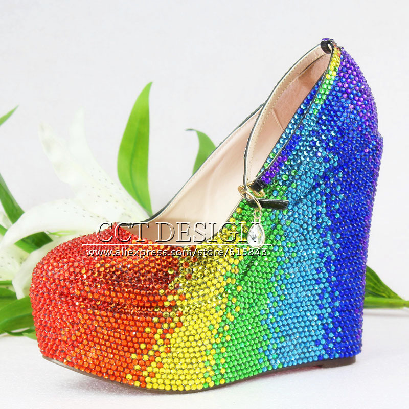 Aliexpress.com : Buy Colorful Red Yellow Green Blue Rhinestone ...
