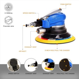 Image 3 - SPTA 6 Inch Disk Air Sander Dual Action Polisher Random Orbital Pneumatic Power Tools Buffing Machine for Car Metal Burnishing