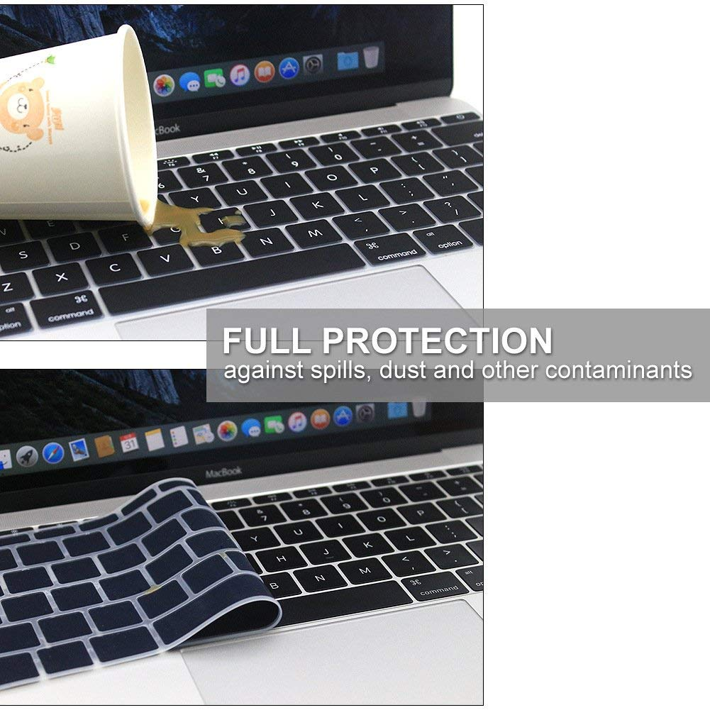 Image 3 - English Silicone Keyboard Cover for MacBook Pro 13 inch Non TouchBar Release 2016+ and For MacBook 12 inch A1534 A1931 Skin Film-in Keyboard Covers from Computer & Office
