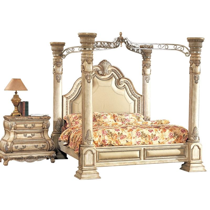Victorian Inspired Antique White Luxury California King Poster Canopy Bed Bedroom Sets Aliexpress