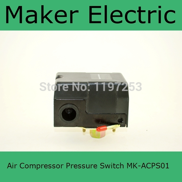 China Factory Best selling MK-ACPS01 8.0 Kgf/cm3 New  Heavy Duty Air Compressor Pressure Switch Control Valve heavy duty air compressor pressure control switch valve 90 120psi 12 bar 20a ac220v 4 port 12 5 x 8 x 5cm promotion price