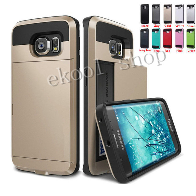 promo code 14fe2 10eb2 Hot ! Luxury Slim Hybrid Credit Card Pocket Wallet Pouch Phone Case For  Samsung Galaxy S5/S6/S7/ Edge/ PC Back Cover Case-in Holsters & Clips from  ...
