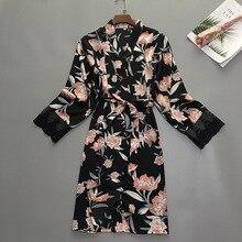 Mùa Hè Nữ Ngủ Áo Dây Bộ Đồ Ngủ Đồ Ngủ Nữ Mặc Nhà Váy Ngủ Gợi Cảm Kimono Tắm Bầu Sleepshirts M XL