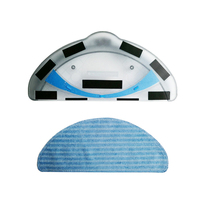 High Quality Water Tank+ Rags For Dibea Panda X500 X580 Ecovacs Deebot CEN546 CR120 CR12 Tool Part