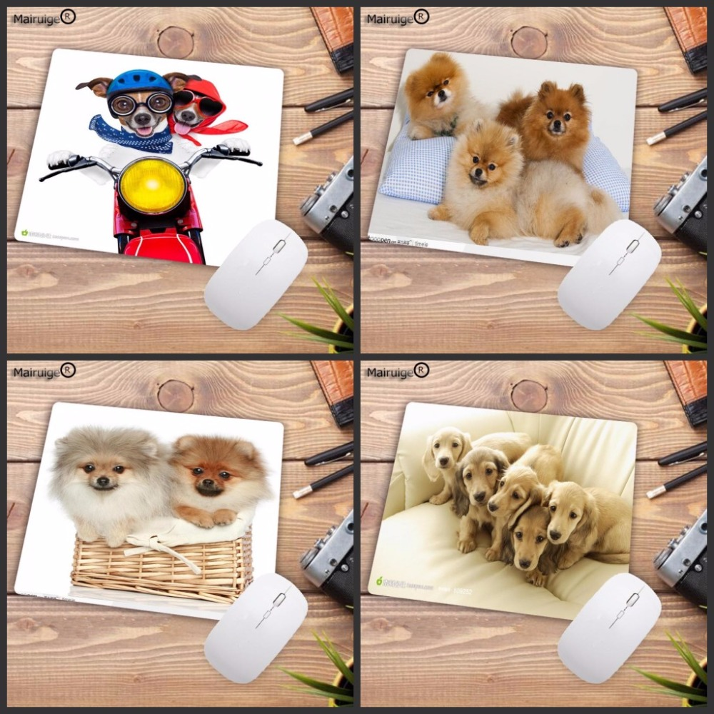 Mairuige Animal Dog Puppies Pictures Cute Hot Desk Computer Mouse Pads For Size 18*22cm And 25*29cm Not Lockedge MousePad