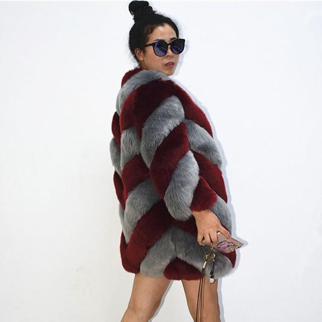 ba3ebcf80eb6c ZADORIN 2018 Designer Brand Luxury Faux Fox Fur Coat Women Plus Size Winter  Coat Thick Warm Fake Fur Jacket Coats chaqueta mujer