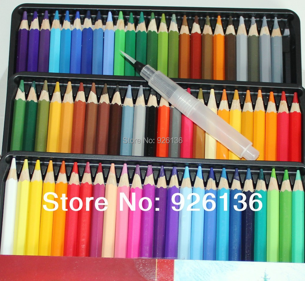 Colouring pencils for adults reviews - 72 Colored Pencils Water Color Pencils One Sakura Midle Self Moistening Art Brush