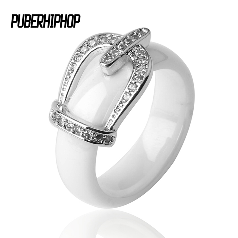 New Ring Jewelry CZ Stone Stainless Steel Belt Crown RING Black White Big Size 10 1112 Ceramic Big Ring For Men Women Jewelry equte rssc4c99s5 fashionable elegant titanium steel women s ring black us size 5