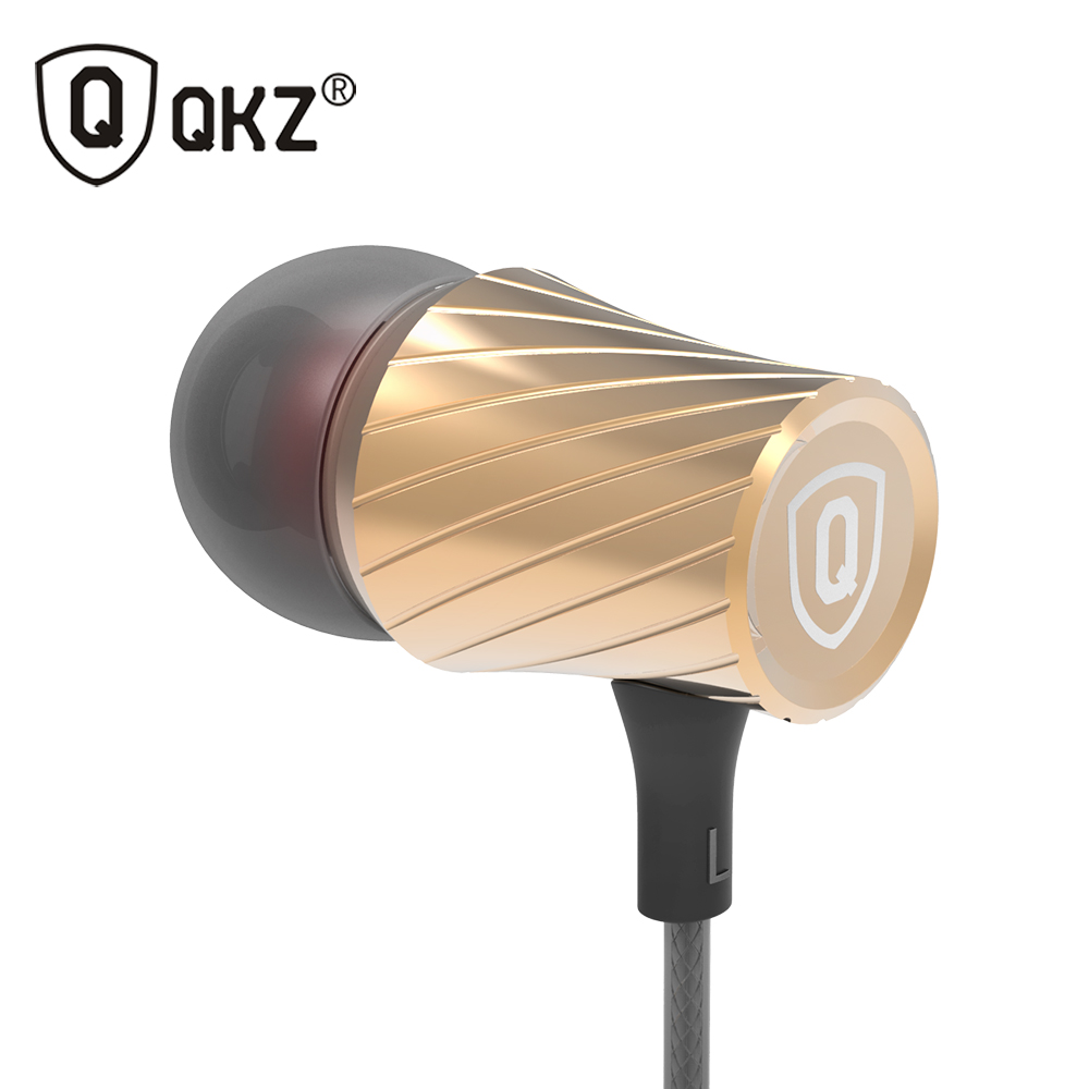 QKZ X9 In-ear Earphones Origina 35mm  Super Clear Bass Metal fone de ouvido Noise isolating Earbud For iphone 6 MP3 MP4 Xiaomi