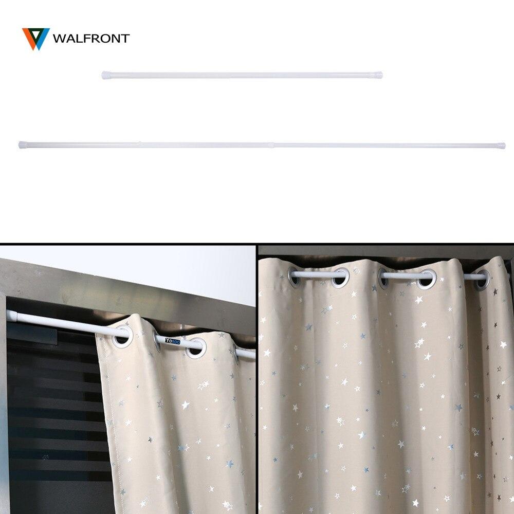 105200cm adjustable spring loaded bathroom shower curtain rod tension extendable telescopic poles rail hanger