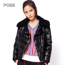 PASS 2017 New Sportwear Down Jacket Solid Warm Feather Collar Loose Coats Casual Outwear