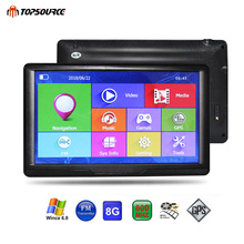 TOPSOURCE Car GPS Navigation 7 Inch HD Touch Screen ce6.0 8GB gps navigator map for navitel/ espanol/uk/Europe/USA/spanish