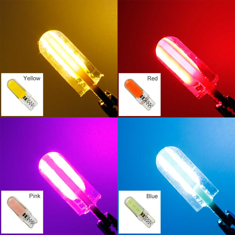 ANBLUB 1pcs T10 W5W 194 168 COB Car Light Turn Signal Lamp 12V Silicone LED Clearance Light Wedge Side Parking Lamp