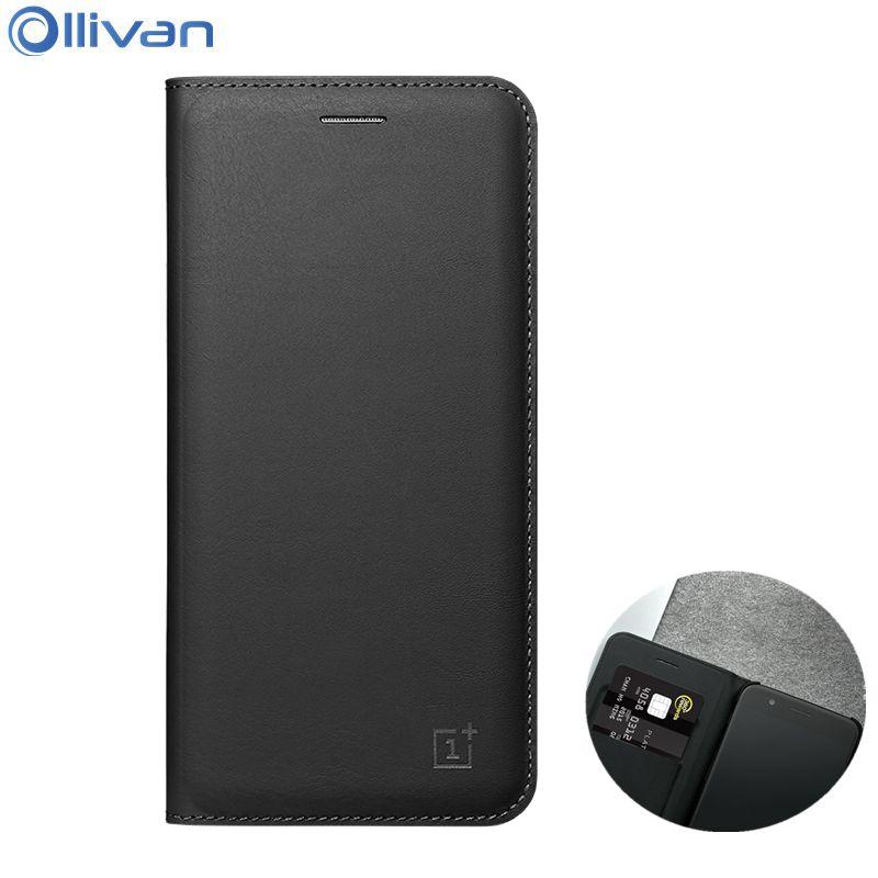 Ollivan oneplus 5 case high quality phone bag case PU leather flip card cover case one plus 5 auto sleep wake up funda coque 5.5