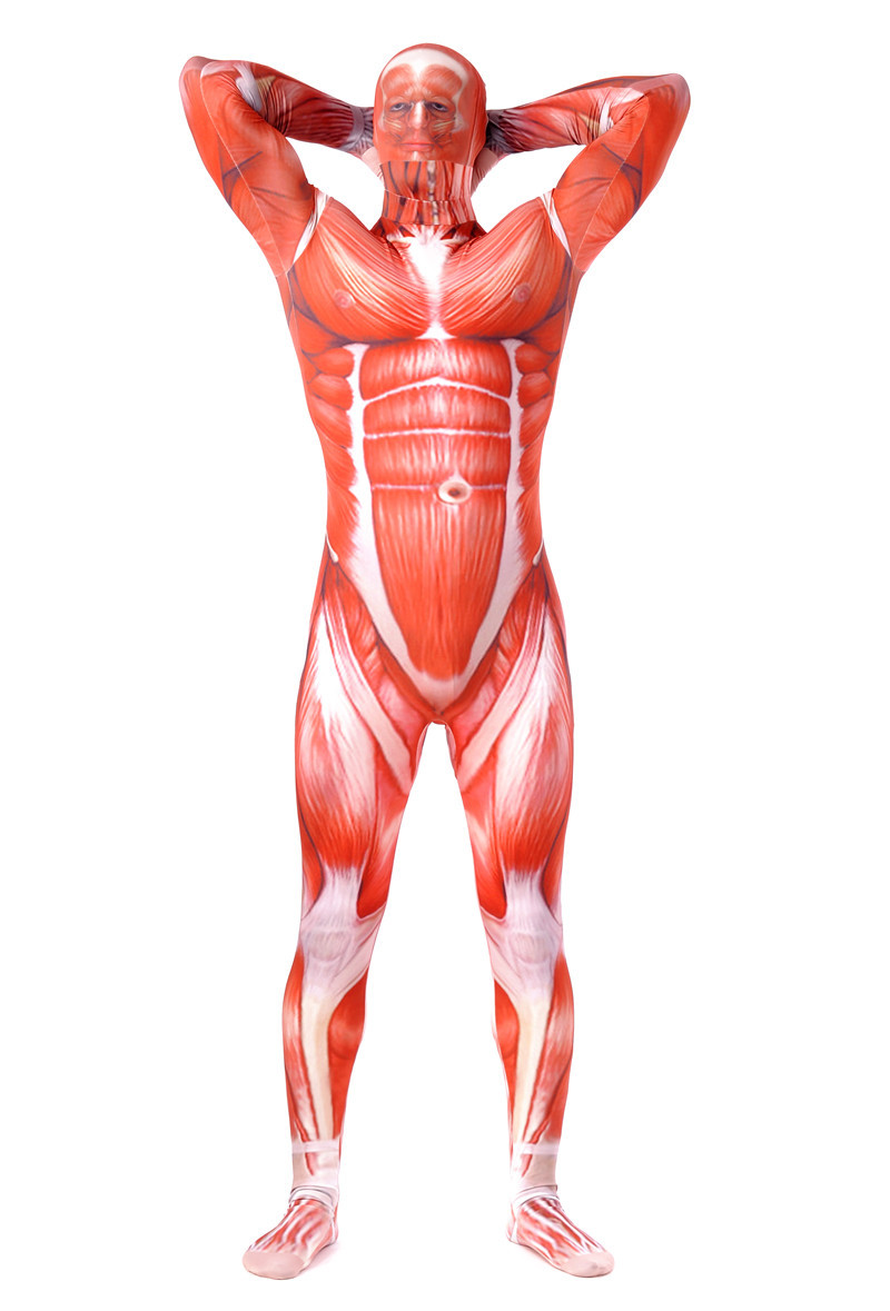 Attack On Titan Men Cosplay Costumes Titans Muscle Suit Bodysuit Bertolt Lycra Zentai Halloween Costume