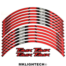 Motorcycle FIT YAMAHA TMAX ALL TMAX General purpose motorcycle wheel decals Reflective stickers rim stripes for yamaha r3 general purpose motorcycle wheel decals reflective stickers rim stripes for yamaha r3