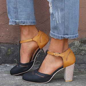 SHUJIN Women Pumps Square Heel