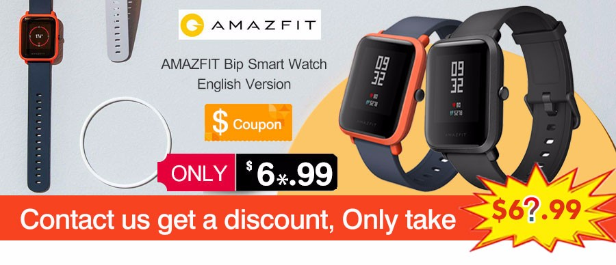 Original Xiaomi Amazfit Huami Smart Watch Youth Edition English Version Bip Lite IP68 GPS Heart Rate Mi Smartwatch