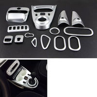 BBQ@FUKA 14pcs ABS Car interior Air Vent Handle Console Gear Shift Reading Light Trim For mercedes Smart 2015 2017 car styling