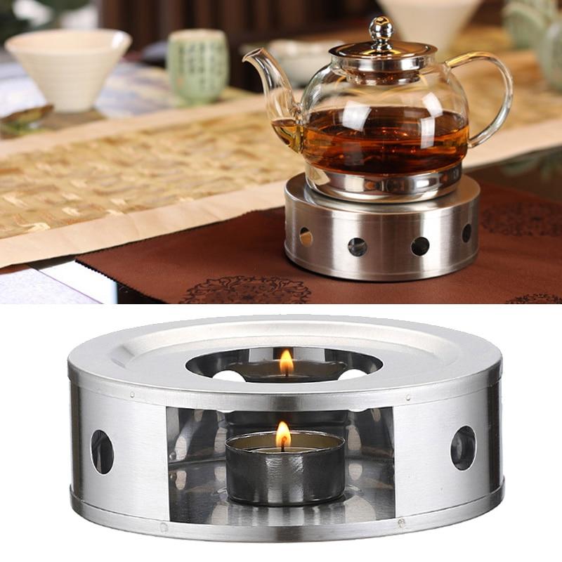 Stainless Steel Teapot Heating Bracket Candle Heating Coffee Milk Stove Holder Shelf Base WXV Sale wall shelf for tea pots