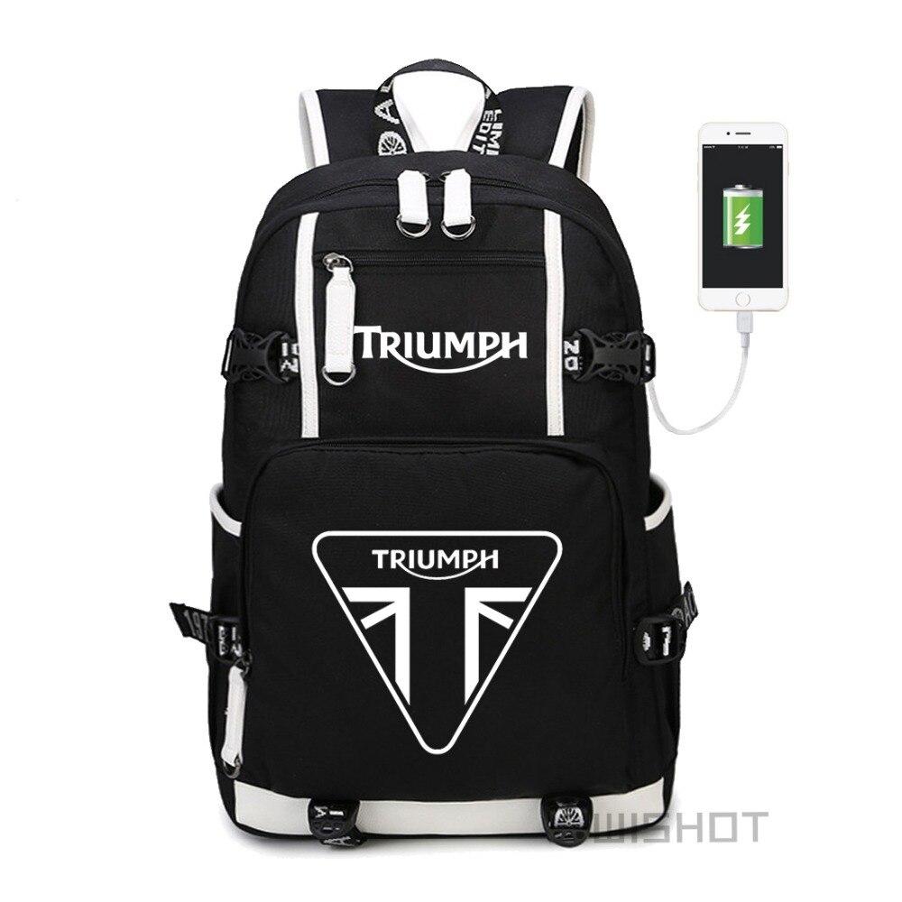 WISHOT triumph multifunction USB charging backpack teenagers Men women s Student School Bags travel Bags