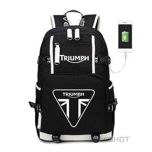 Image 1 - WISHOT triumph multifunction USB charging  backpack teenagers Men womens Student School Bags travel Bags