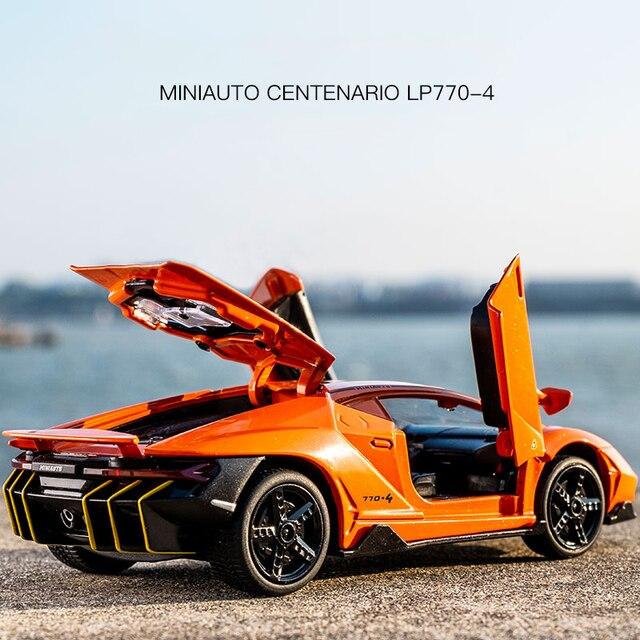 Lamborghini Aventador 750 Diecast 1:32 Car Model Die Cast With Sound & Light Effect
