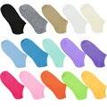 De Las Nuevas Mujeres calientes Calcetines de Algodón Cortas de Tobillo Barco Escotado acogedor Calcetines Crew calcetines Niñas Calcetines Ocasionales 15 Colores Del Caramelo Z1