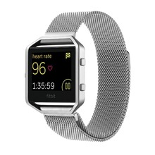 цена на XG382 For Fitbit Blaze Bands Men Women Stainless Steel Milanese Bracelet Magnetic Closure Replacement Strap with Metal Frame