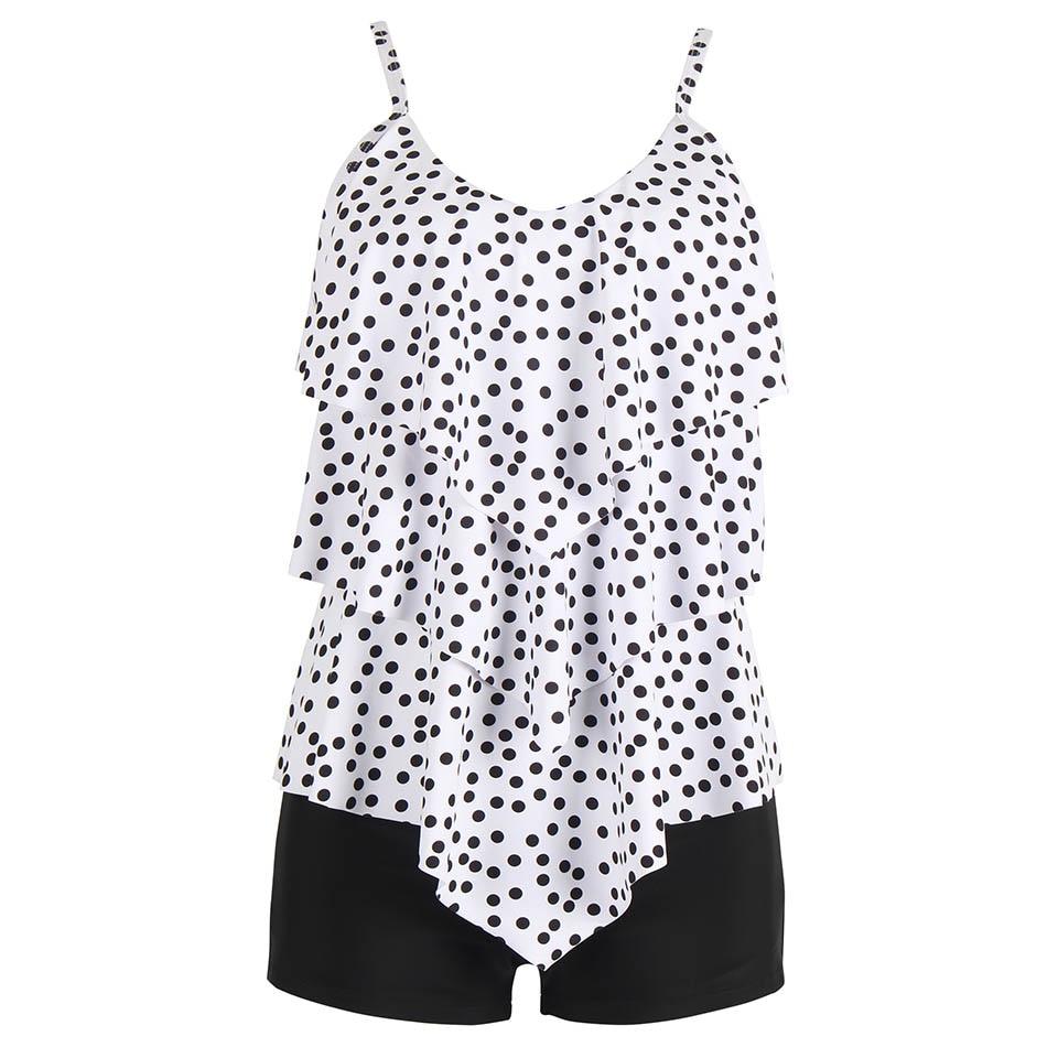 NAKIAEOI Swimwear 2019 Sexy Swimsuit Women Tankini Dot Swim Vintage Beach Wear Bathing Suits Female Bandage Monokini Swim Suit|Body Suits|   - AliExpress