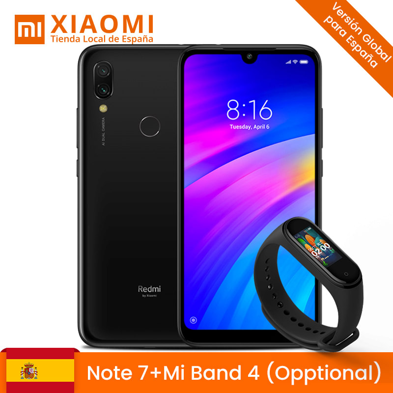 Xiaomi Note Redmi 7 4GB 64 Hard GB Camera Dual 48 + 5 MP With IA Screen FHD + 6,3