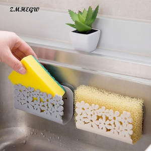 ISHOWTIENDA 1pc Sponge Holder kitchen Bathroom Storage Rack
