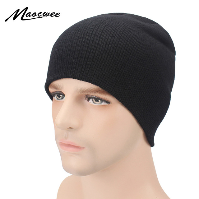 Winter Hats for Women Men Knitted Beanie Bone Black Hat Cap for Girls Brand Hat  Female and Male Skullies Couples Stocking Caps 2ed84655a3c