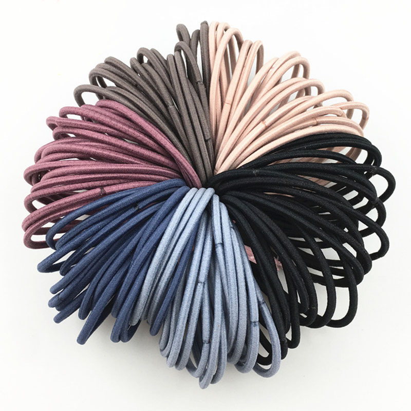 50pcs/lot 5CM Hair Accessories Women Rubber Bands Scrunchy Elastic Hair Bands Girls Headband Decorations Ties  Gum For Hair