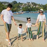Baby girl clothes family look dress family matching clothes mother daughter dresses matching outfits tshirt pants bohemian