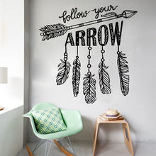 Follow Your Arrow Wall Decals Vinyl Removable Bedroom Home Decor Yoga Namaste Sticker Mural Creative Art W431