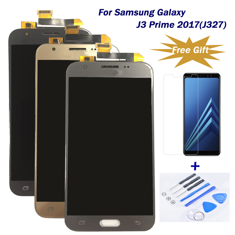 100% strictly tesed LCD for Samsung Galaxy J3 Prime 2017/J327 LCD Touch Screen display Digitizer Assembly AAA Quality